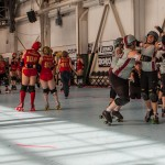 The Sacred City Derby Girls defeated the Angel City Derby Girls at the WFTDA 2012 Western Region Tournament